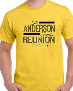 Family Reunion T-shirt  Customized  Unisex Size by SunAndAsphalt