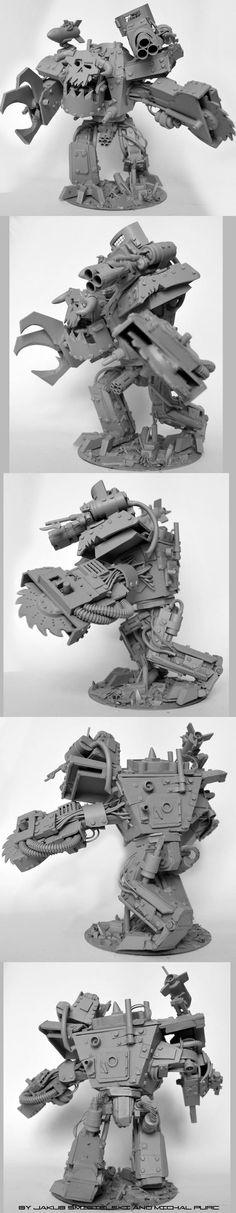 Scratch Built Ork Gargant. Damn! Orks can do anything!