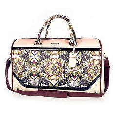 Sac de voyage imprimé foulard rose - trousses à maquillage/bagages - maroquinerie - femme