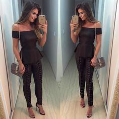 """10.3 mil curtidas, 85 comentários - Blog Trend Alert (@arianecanovas) no Instagram: """"{All black ✨} Look de couro todo @rocklola_ ♥️ Pensa em uma calça linda e que veste bem!  Já…"""""""