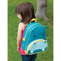 Skip Hop Zoo Little Kids & Toddler Backpack, Hippo Little Backpacks, Kids Backpacks, Flash Fiction Stories, Skip Hop Zoo, Cute Hippo, Animal Bag, Toddler Backpack, Baby Shop Online, Animal Design