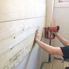 Talking about our DIY shiplap on the blog today! Link is in my bio :) Enjoy your Thursday ♥️🌾 • • • #shiplap #shiplapwalls #fixerupperstyle #diy #doityourself #homedecor #benjaminmoore #homerenovation #homeremodel #neutralhome #bathroomremodel #bathroomideas #homeideas #homeinspo #fixerupper #rustic #rusticdecor