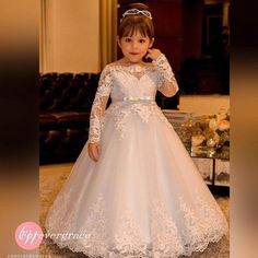 Cheap communion dresses, Buy Quality flower girl dresses directly from China holy communion dresses Suppliers: Elegant Princess Flower Girls Dresses for Weddings Lace Long Sleeve Boat Neck Vintage Girl Pageant Gowns Holy Communion Dress Girls First Communion Dresses, Holy Communion Dresses, Girls Pageant Dresses, Little Girl Dresses, Pageant Gowns, First Communion Veils, Homecoming Dresses, Vintage Flower Girls, Lace Flower Girls
