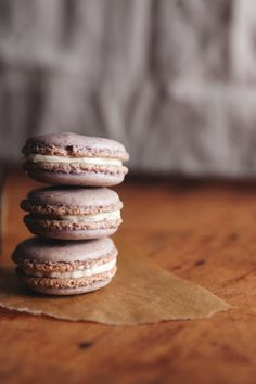 Lavender Macarons with Honey Buttercream http://www.thetarttart.com/2013/05/lavender-macarons-with-honey-buttercream/