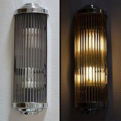 Wall Light Cinema Lamp Art Deco Glass Sticks Palazzo Exclusive