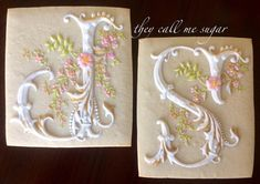 Illustrated letters, cookies by Susan Hennes of They Call me Sugar
