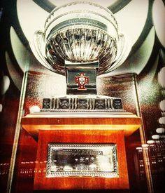 Troféu do 34º campeonato de futebol - Museu Cosme Damião