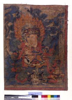 Painting. Religious. The Lokapala Virupaksha. Painted on textile. JC French - loot ??