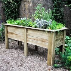 Forest Garden Deep Root 1.8m Raised Wooden Ved Bed