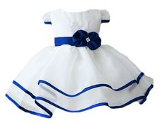 Baby Girls Princess Birthday Party White Formal Gown Dress with Waistband Skirt Baby Girl Princess, Princess Birthday, Cute Outfits For Kids, Cute Kids, White Formal Gowns, White Lace, Blue And White, Thing 1, Ecommerce Platforms