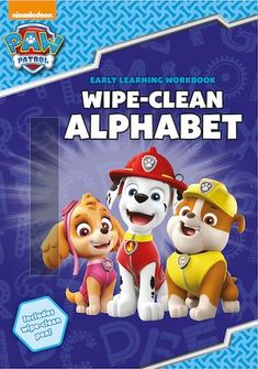Get ready for an A, B, C adventure! Children can practise tracing and writing the letters of the alphabet with their favourite PAW Patrol pups. Includes a wipe-clean pen! Paw Patrol Dvd, Paw Patrol Books, Paw Patrol Lookout, Paw Patrol Pups, Interactive Learning, Learning To Write, Home Learning, Early Learning