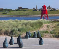 "The Groyne and ""Conversation Piece"" at South Shields. Blaydon Races, North East England, Sunderland, Local History, Durham, Lighthouses, Newcastle, Great Britain, East Coast"