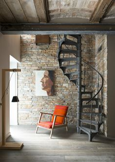 A modern looking family home - Marie Claire Maison - arabic styla Loft Stairs, House Stairs, Spiral Staircase, Staircase Design, Style At Home, Loft Design, House Design, Deco Design, Interior Architecture