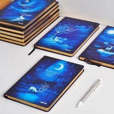 LENWA Merveilleux Portable A5/B5 Elk Nuit Dur Portable Bloc-Notes Journal 1 PCS