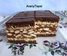 My Recipes, Sweet Recipes, Dessert Recipes, Cooking Recipes, Hungarian Desserts, Hungarian Recipes, Cake Bars, Sweet Cookies, Homemade Cakes