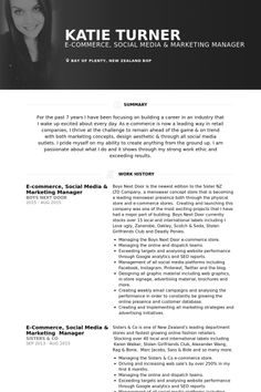 blogger & social media consultant Resume Example | Sample Social ...