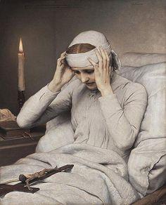 ガブリエル・フォン・マックス 『修道女カタリナ・エンメリックの法悦』(1885) Gabriel von Max - Die ekstatische Jungfrau Katharina Emmerich