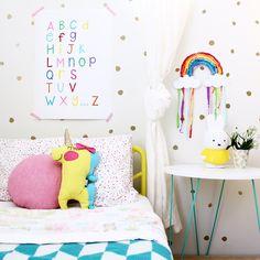 Rainbow Alphabet Print   kids Bedroom Ideas   Nursery Art, Kids Room Decor