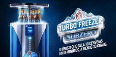 Antarctica cria Freezer turbo que gela 10 cervejas em 8 minutos