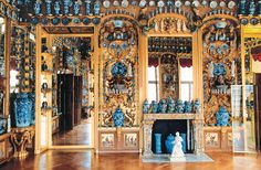 The Porcelain Cabinet at Charlottenburg Palace in Berlin, which houses about 2,700 blue-and-white pieces, is an outstanding example of the 18th-century fashion for chinoiserie