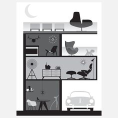 Fab.com | Apartment BW by Joel Pirela, Blue Ant Studio