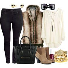 Fur Vest - Plus Size #plus #size #plussize #outfit