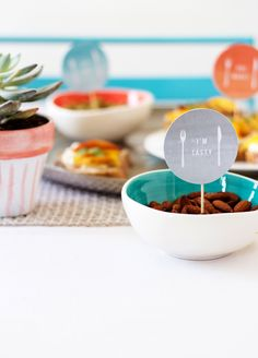 Free party printables by The Lovely Drawer | west elm