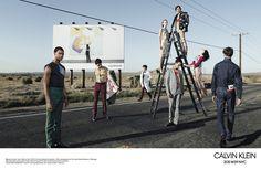 Calvin Klein 205W39NYC — starring Julia Nobis, Leila Goldkuhl, Dylan Christensen and Fernando Albaladejo; shot by Willy Vanderperre.