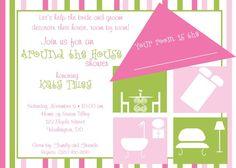 Around the house bridal shower invitation 144 possible around the house shower invitation filmwisefo