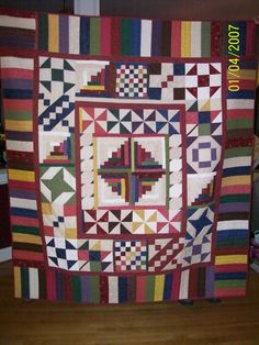 Quilt Multi Colored Throw size - pinned by pin4etsy.com