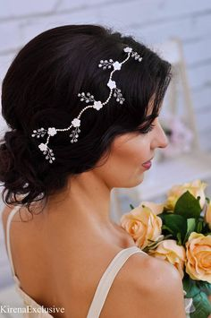 Items similar to Bridal hair accessories Bridal tiara Wedding tiara Bridal headpiece Wedding headpiece Bridal hair piece Bridal headband Crystal tiara White on Etsy