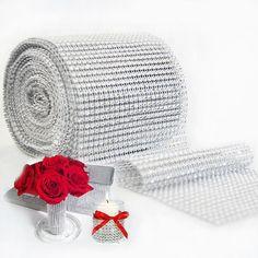 Wedding Cake Decoration - Diamond Mesh Trim Wrap //Price: $13.95 & FREE Shipping //     #cakedecorating