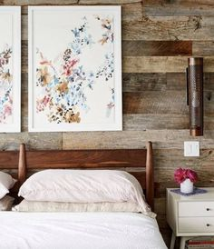 This fall, modern rustic interiors are all the rage. Learn how to incorporate a rustic feel into your home. Rustic art and accessories can work in any space. For more interior design trends and inspiration, go to Domino. Diy Rustic Decor, Diy Home Decor, Modern Rustic Interiors, Modern Decor, Home Bedroom, Bedroom Decor, Bedroom Wall, Bedrooms, Brooklyn House