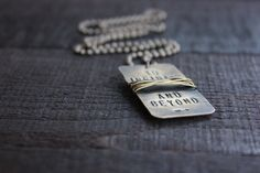 Personalized Hand Stamped All Oxidized Brass Dog by RUSTICBRAND, $31.00