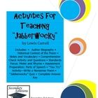 """Complete unit for teaching """"Jabberwocky"""" by Lewis Carroll. Aligned with the Common Core Text Exemplars in Poetry for Grades 6-8. A total of 24 pages including answer key. $"""