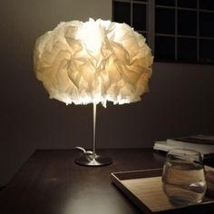 和紙のテーブルランプ
