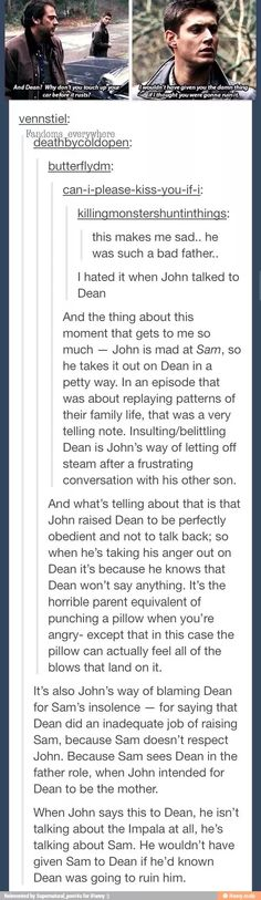The Winchester dysfunctional family dynamics