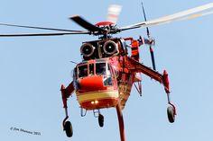 (T-733) Sikorsky S-64 Skycrane (N179AC) Erickson Air Crane, Air Tanker Erickson Air Crane, Aviation Art, Firefighter, Aircraft, Wild Fire, Choppers, Rotary, Military, Water