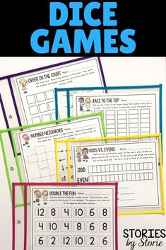 Dice games are a great way to keep students engaged while practicing key math skills. These dice games can be used during guided math, for fast finishers, or as independent work. Place the games in sheet protectors or dry erase pockets and they can be reused all year long!