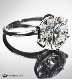 "I'd say ""yes""! :) diamond solitaire to sing about #engagementring"