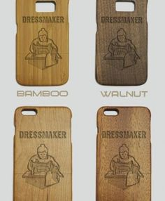 http://woodcases.co/product/dressmaker-engraved-wood-phone-case/
