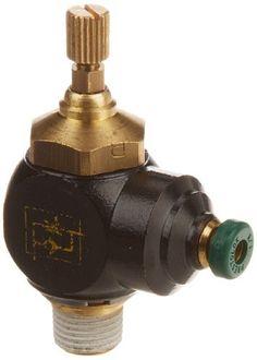 Legris 7665 53 11 Nylon Air Flow Control Valve, 90 Degree Elbow, Meter-Out, External Screw-Knob, 1-8