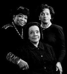 First ladies Dr.Betty Shabazz, Mrs. Coretta Scott King and Mrs.Myrlie Evers