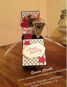 Masculine Card in a box using Modern Medley and Simply Stars