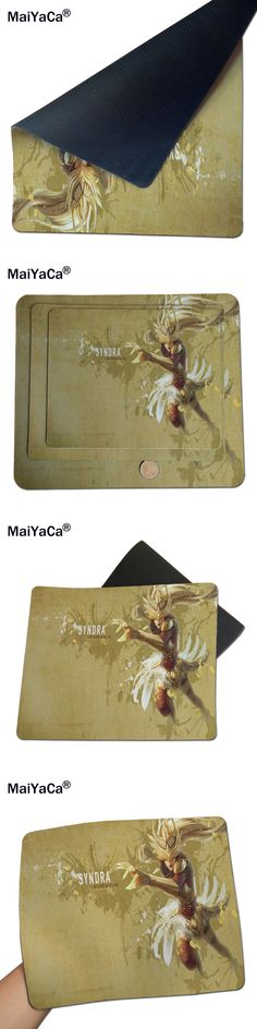 MaiYaCa Lol Syndra Best Game Custom Mousepads Rubber Pad 18*22cm and 25*29cm