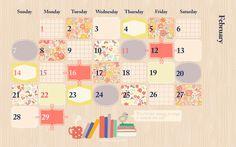 February calendar — Le Lapin dans la Lune