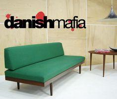 Mid Century Danish modern teak sofa daybed couch eames #livingroom $1295
