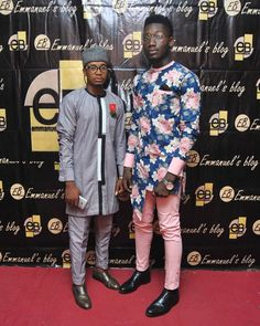 Designer Tomcy and friend stuns on the red carpet after witnessing 2017 Mr and Miss Tansian university context #ameriesblog #fashion #ebfablook #styleblogger #emmanuelsblog