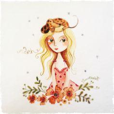 elsbeth eksteen Arte Dachshund, Artist Profile, Disney Characters, Fictional Characters, Aurora Sleeping Beauty, Watercolor, Disney Princess, Creative, Illustration