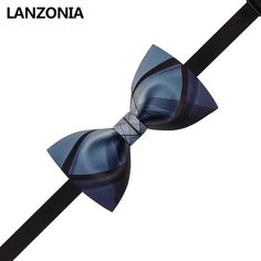 Lanzonia Boys Designer Blue and Purple Floral Bow Tie for Kids